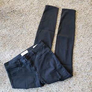 Black Pacsun Distressed Jeggings Jeans